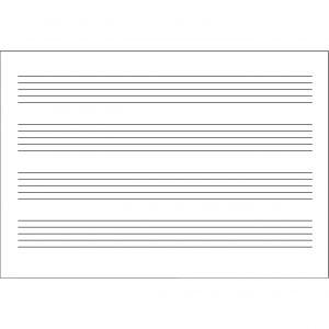 Cuaderno musica cuartilla 4 pautas