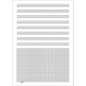 Cuaderno musica folio pauta y cuadricula