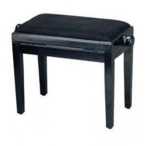Banqueta piano regulable Marrón y Negro