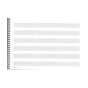 Cuaderno musica cuartilla 6 pautas
